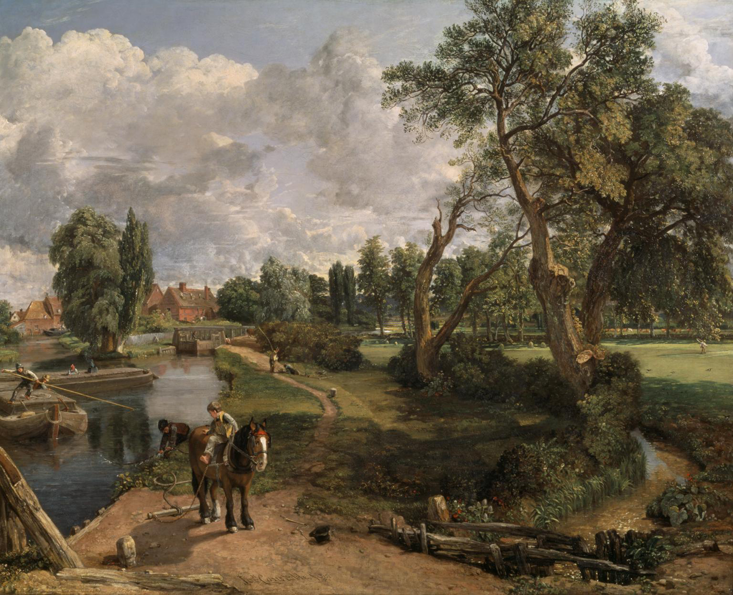 Flatford Mill ('Scene on a Navigable River') 1816-7 John Constable 1776-1837 Bequeathed by Miss Isabel Constable as the gift of Maria Louisa, Isabel and Lionel Bicknell Constable 1888 http://www.tate.org.uk/art/work/N01273